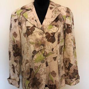 Coldwater Creek floral blazer